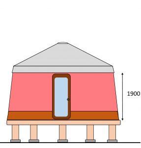 パオ立面図
